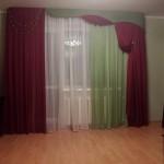 Красно зеленая штора