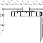 Крепление ПВХ шины к стене2