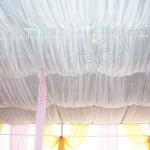 текстильный дизайн помещения свадьбы