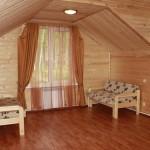 Нестандартная Штора для спальни в деревянный дом