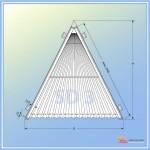Шторы плиссе SD 3 Треугольник