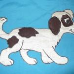 Апликация собачка на детском покрывале