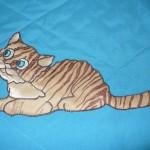 Апликация кошка на детском покрывале
