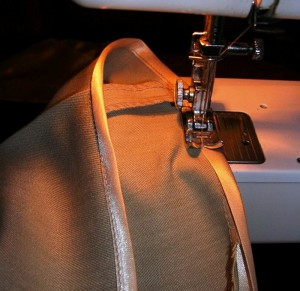 Обработка ткани бейкой