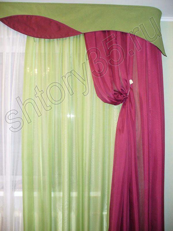 Шторы шторы для зала красно зеленая