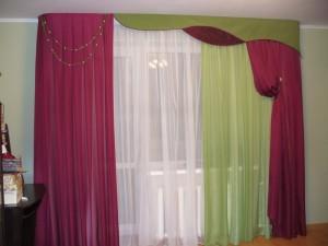 Красно зеленая штора3