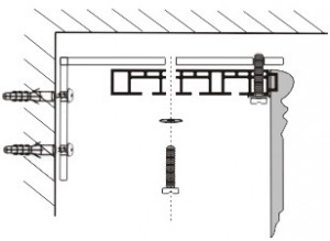 Крепление ПВХ шины к стене1
