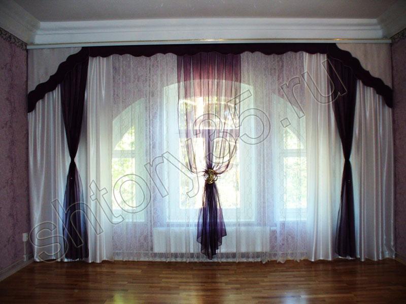 В нише для зала шторы для зала шторы