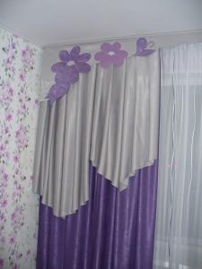 фиолетовая штора