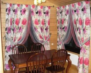 шторы в столовую в коттедж