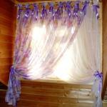 фиолетовая штора для детской