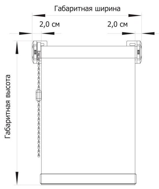 Схема замеров рулонной шторы