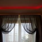 Черная штора для спальни