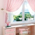 розовый фигурный ламбрекен