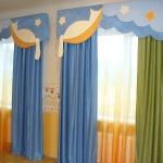 Сине зеленые шторы для детской