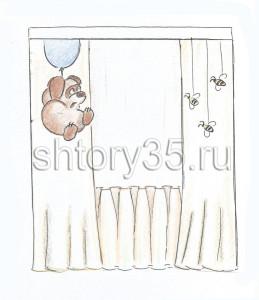 Эскиз штор для детской