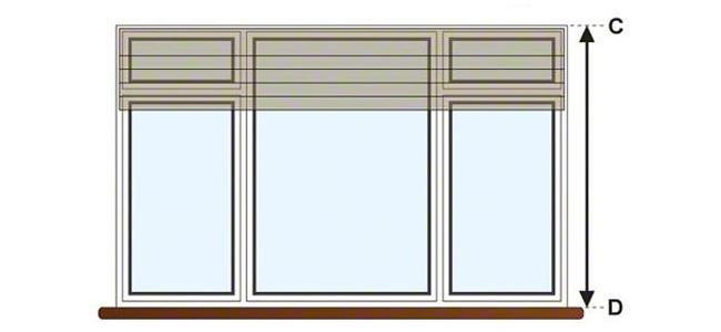 Высота шторы