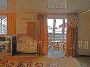 Оранжевые шторы 1