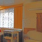 Оранжевые японские шторы