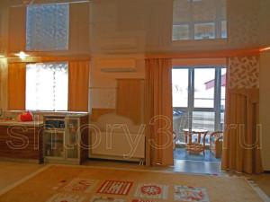 оранжевые шторы 2