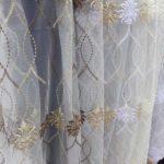 ткань сетка с вышивкой