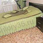 зеленое покрывало для спальни