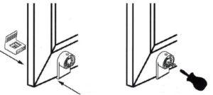 Установка кронштейна рулонных штор для лески