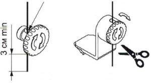 механизм натяжения лески рулонной шторы