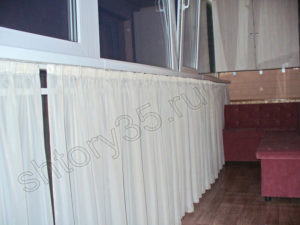 балконные шторы на потолочном карнизе