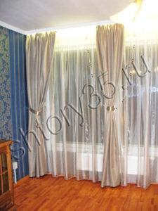 шторы с бусами для зала